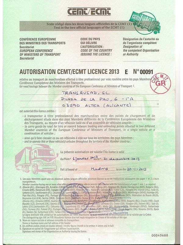 Health Insurance Companies >> Transrusad S.L. - European transportation services